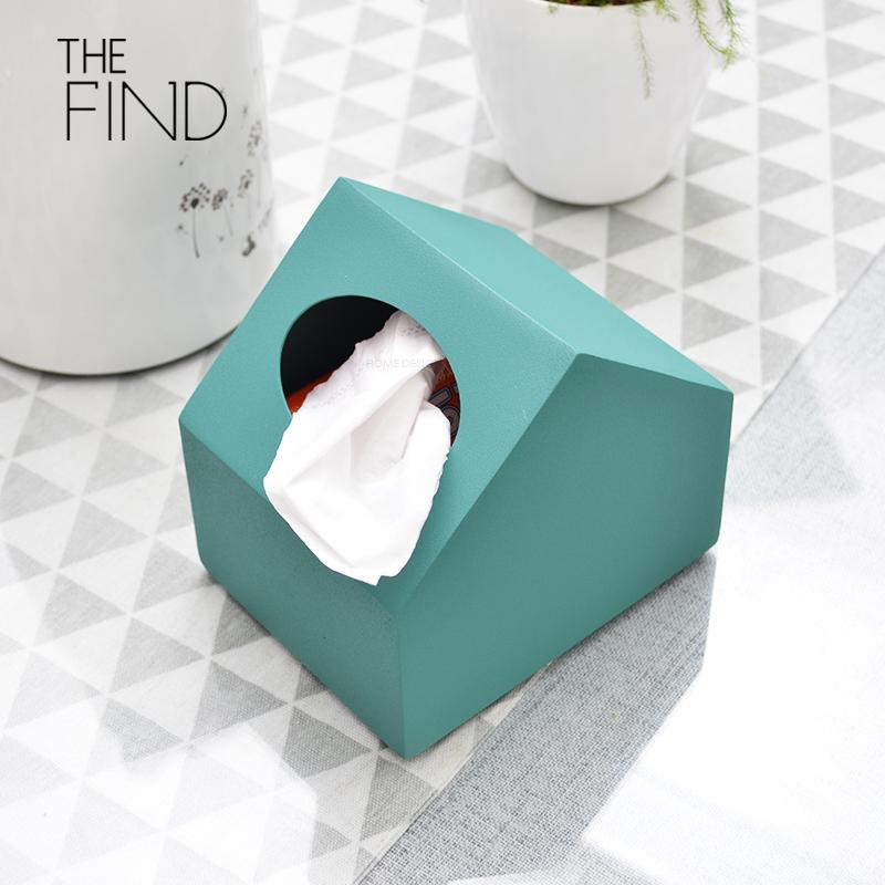 【现货】  绿色小房子纸巾盒 / 北欧极简摆件/ 样板房简约纸巾盒