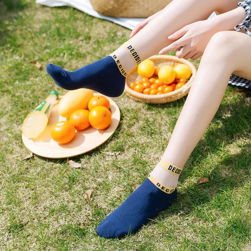 袜子女中筒袜韩版学院风棒球原宿风夏季薄款纯棉潮日系镂空短袜女