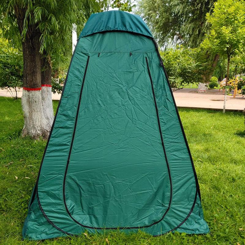 单人钓鱼帐篷简易厕所淋浴棚户外 米更衣洗澡换衣罩帐篷 2.1 超大