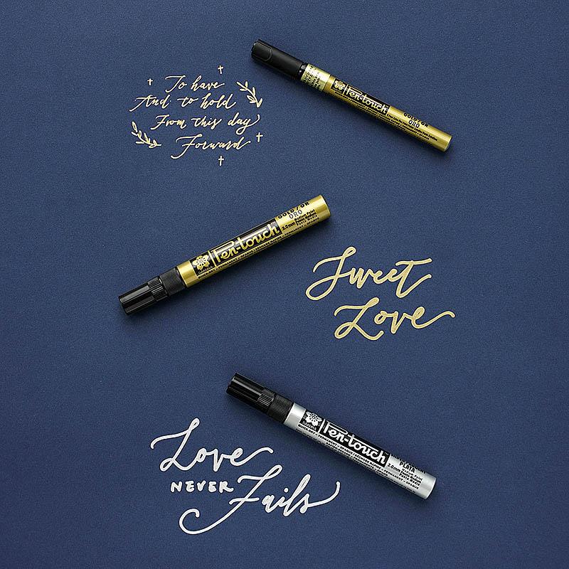 密語森林Sakura櫻花金色銀色油漆筆手繪高光油性筆簽名筆婚慶用品