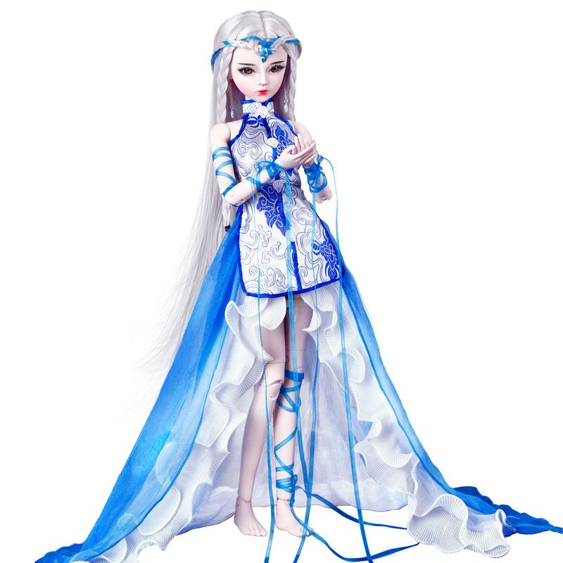 60厘米sd关节古装代风凯蒂换装12公主十二星座洋娃娃玩具女孩套装
