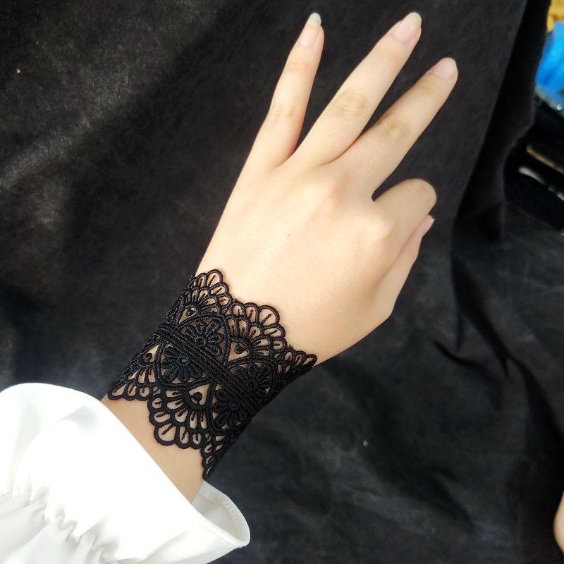包邮 手工定制黑色白色蕾丝手链  新品新款 复古宫廷手饰