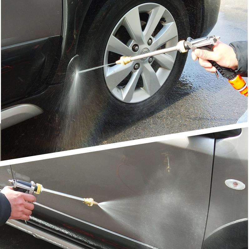 车洁美 车载洗车器便携车家用12V高压水枪刷车机用品充电式洗车机