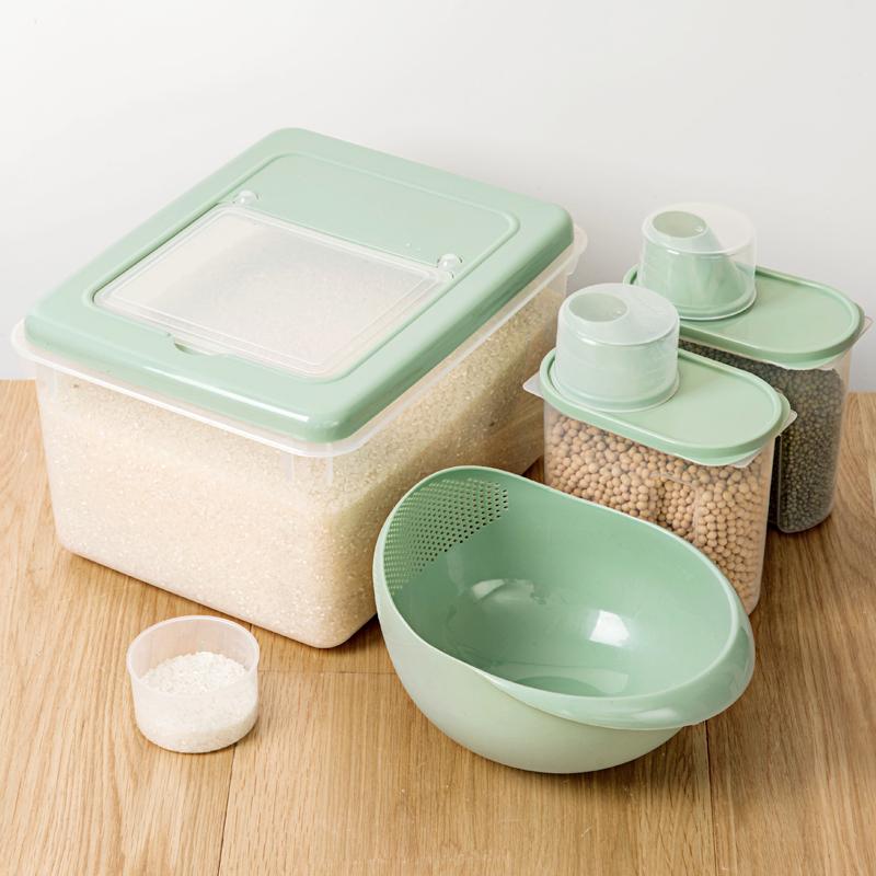 居家家防虫防潮密封米桶20斤厨房装米箱家用储米箱10斤米面收纳箱