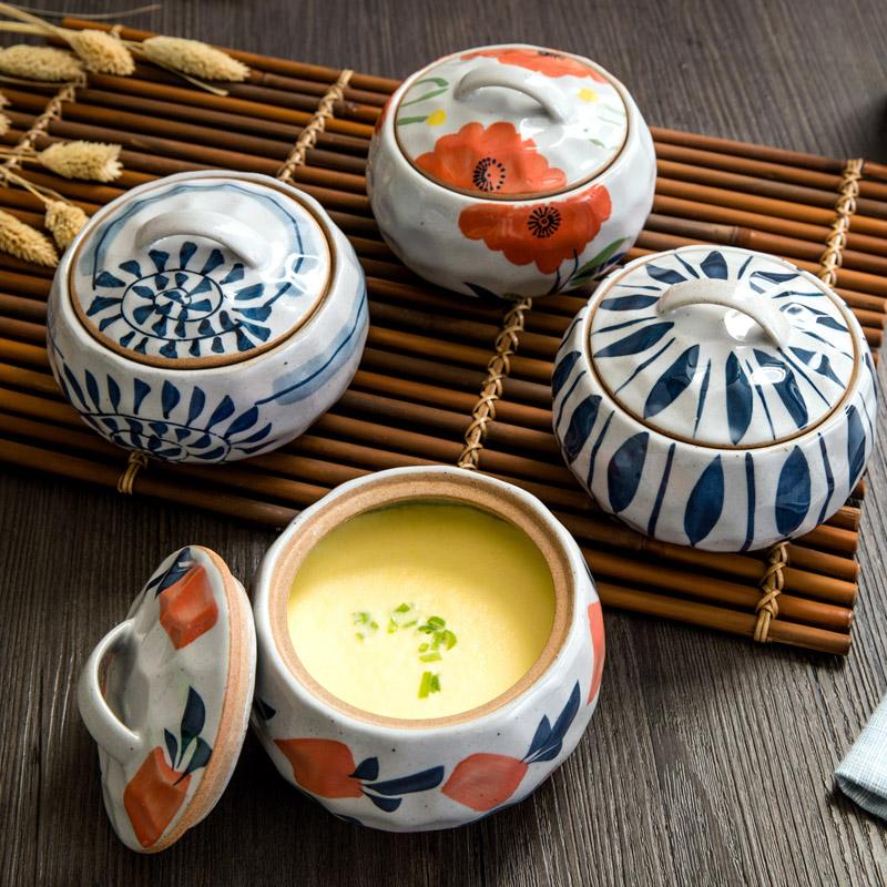 家用陶瓷帶蓋湯盅燉鍋隔水蒸蛋盅湯鍋煲湯內膽燉罐湯煲燕窩小燉盅