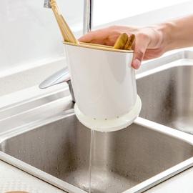 居家家塑料沥水筷子架勺子置物架筷笼多功能厨房餐具收纳架筷子筒