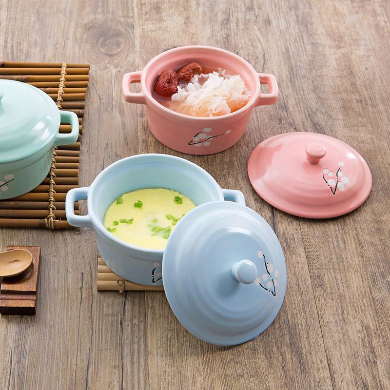 居家家陶瓷帶蓋燉鍋隔水蒸蛋燉湯盅家用煲湯小燉盅內膽燕窩陶瓷鍋