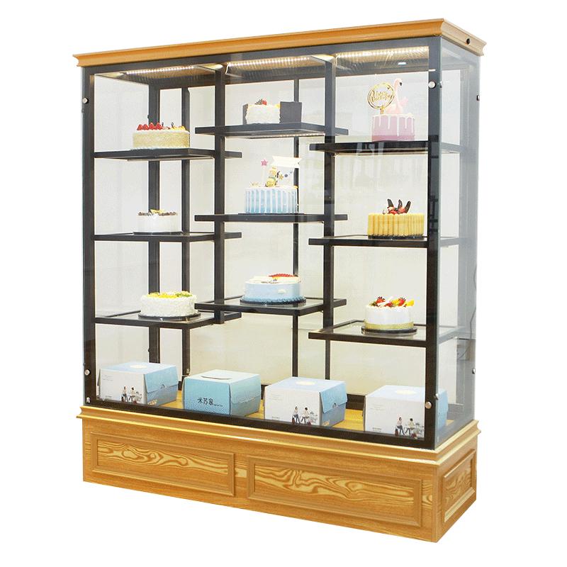 蛋糕展示柜铁艺玻璃货架烤漆面包柜面包陈列柜生日蛋糕模型展示柜