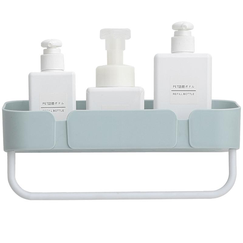 浴室置物架厕所洗手间洗漱台墙上毛巾收纳洗澡免打孔壁挂式卫生间