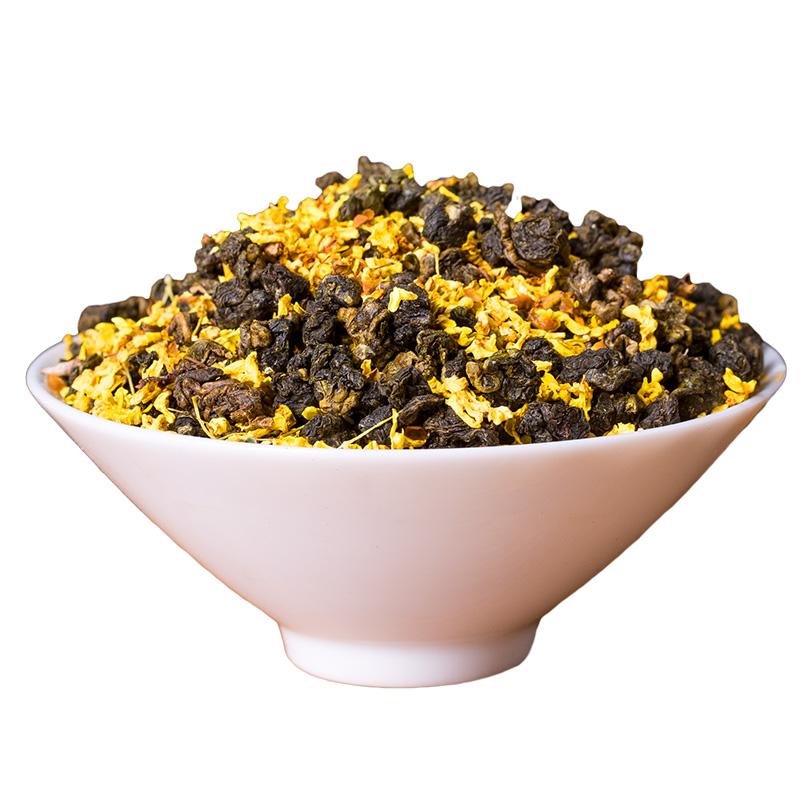 桂花乌龙茶小罐装黑乌龙茶叶油切去腻黑乌龙乌龙茶台式乌龙茶