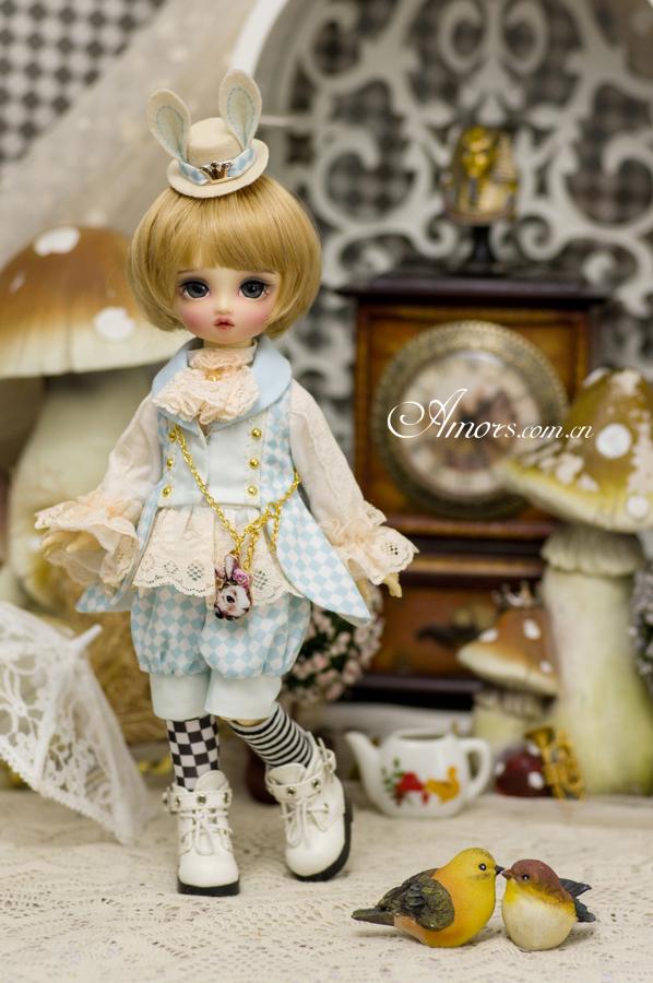 AMORS新品洋装6分尺寸男女BJD娃衣套装SD娃娃衣套装爱丽丝系列之