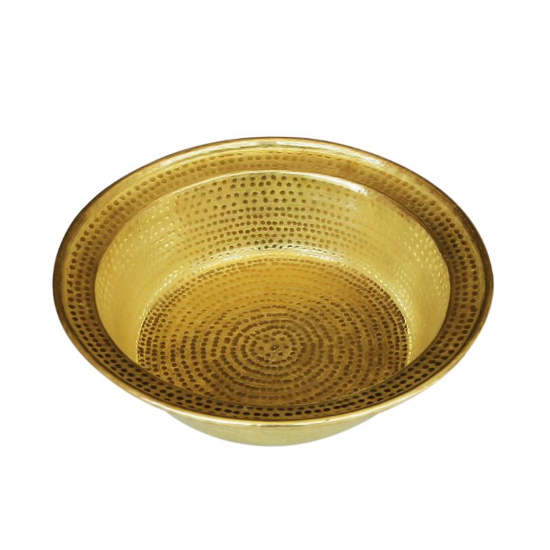手工纯铜盆加厚纯铜盆婚庆边宽盆纯紫铜盆足浴盆红黄铜盆