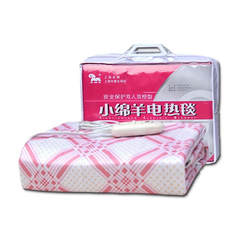 小绵羊电热毯双人双控安全保护家用可调温电褥子加厚防水1.6*1.3m