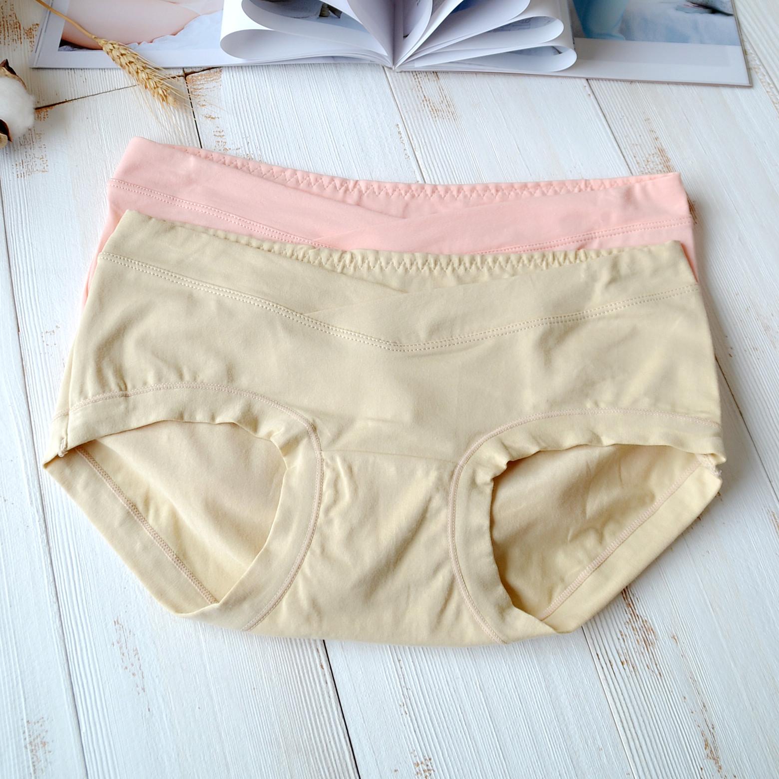 宜棲內衣孕婦內褲產婦低腰透氣抗菌懷孕期三角薄款產後託腹短褲頭