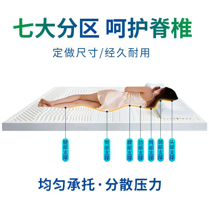 泰国天然乳胶床垫加厚1.5m1.8米榻榻米橡胶床垫软垫褥子家用定制