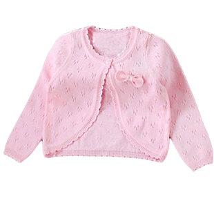 女童春夏秋棉线小披肩外套儿童长袖披肩宝宝婴儿针织开衫空调坎肩