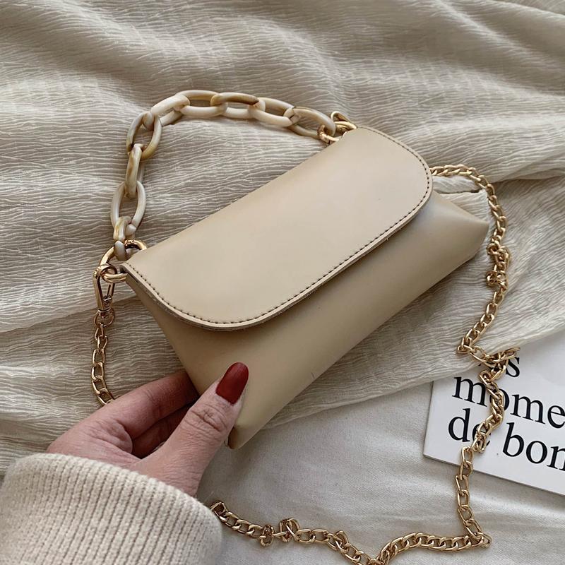 新款潮韩版百搭斜挎包链条时尚单肩包 2020 高级感法国小众小包包女
