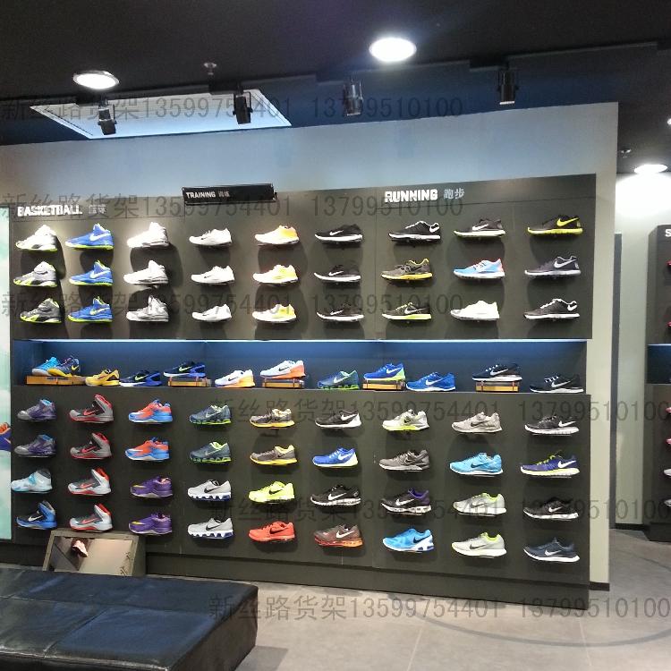 运动服装架鞋架商场专柜专卖铁制落地女装靠墙展示架男装货架定制