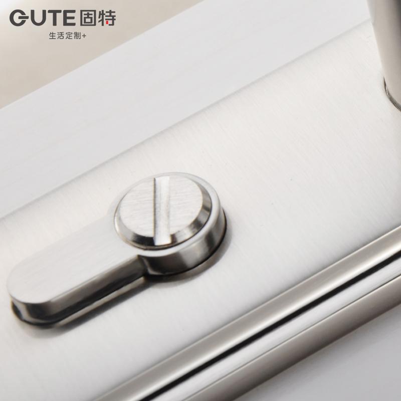 固特木门锁简约现代家用卧室房门锁单舌室内门执手锁具适合换锁