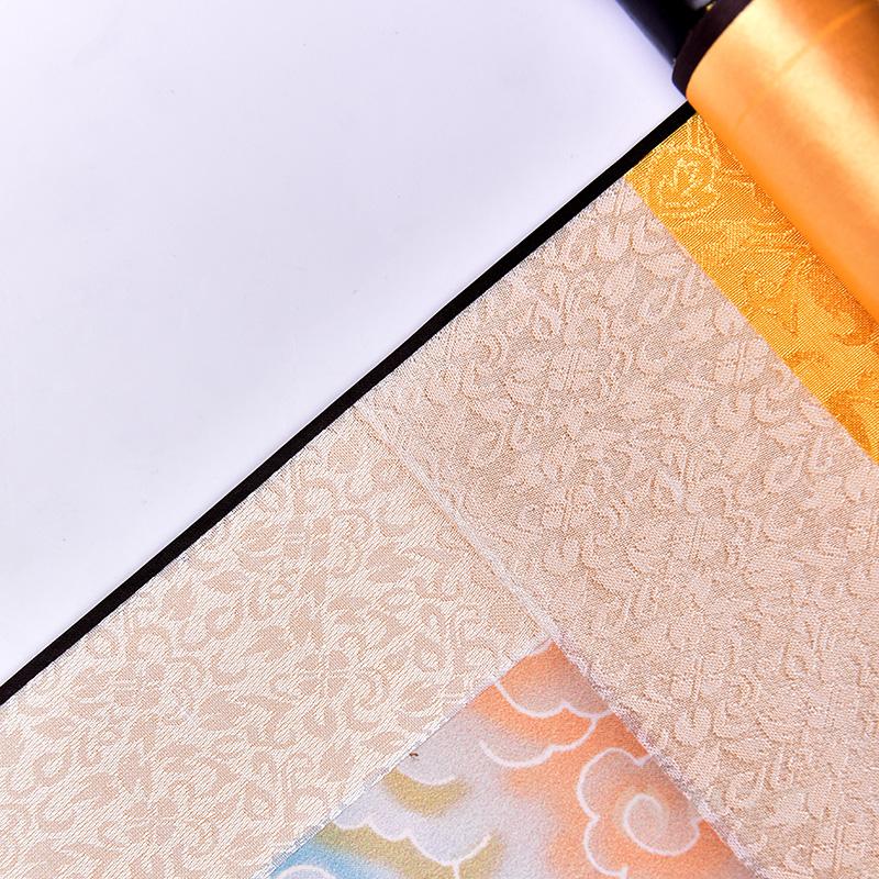 戴玉堂 佛堂观音画像供奉挂画 丝绸绢布观世音菩萨墙上装饰品卷轴