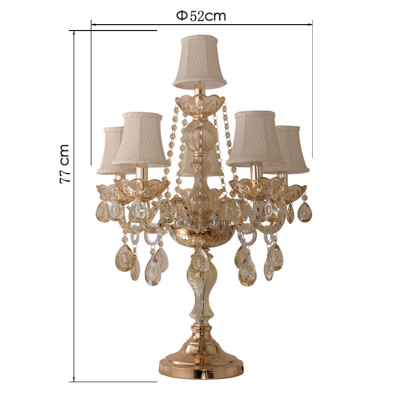 欧式水晶台灯奢华卧室床头大气创意温馨婚房美式客厅现代装饰灯具
