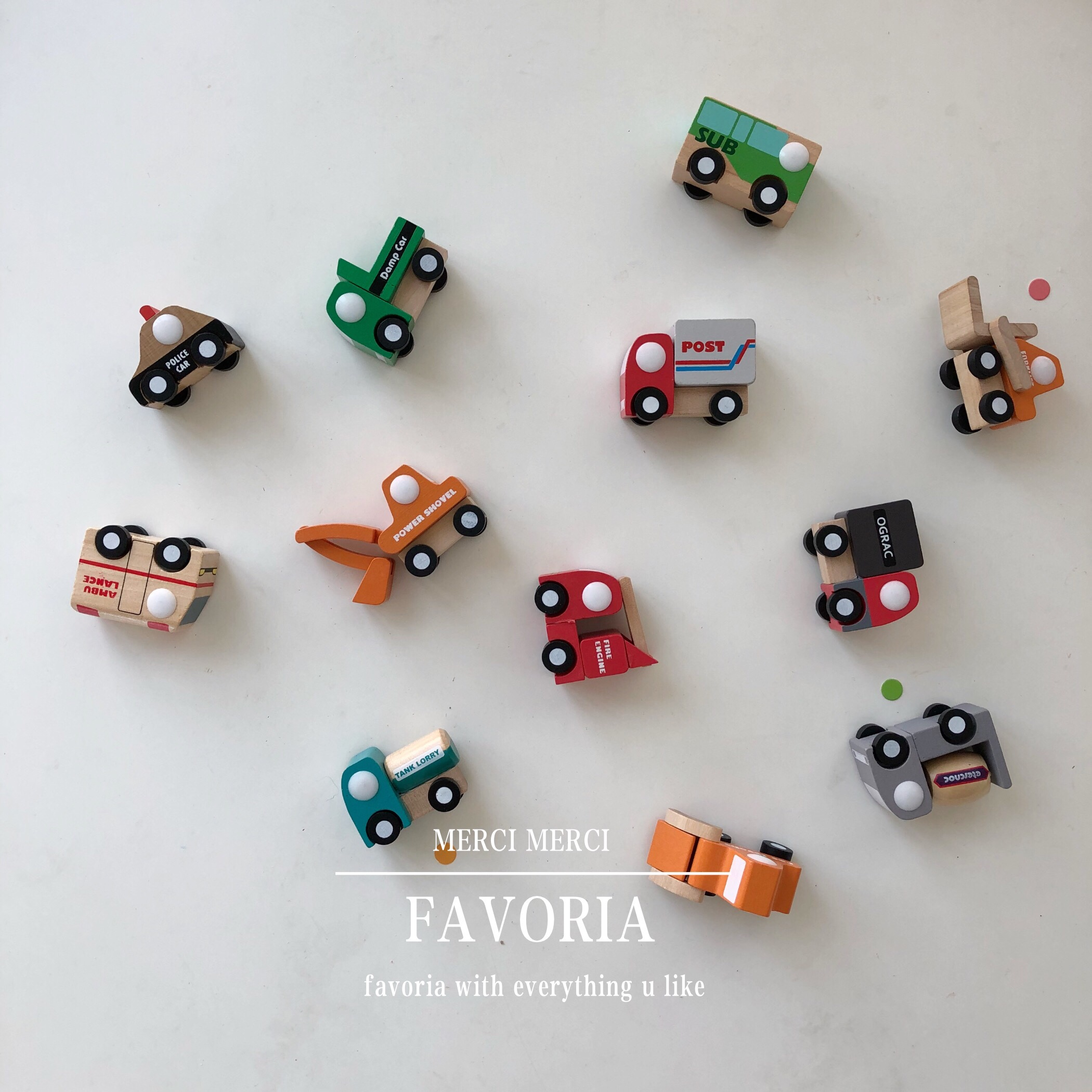Favoria 北欧ins韩风宝宝儿童小汽车玩具木质 男孩玩具车模型礼物