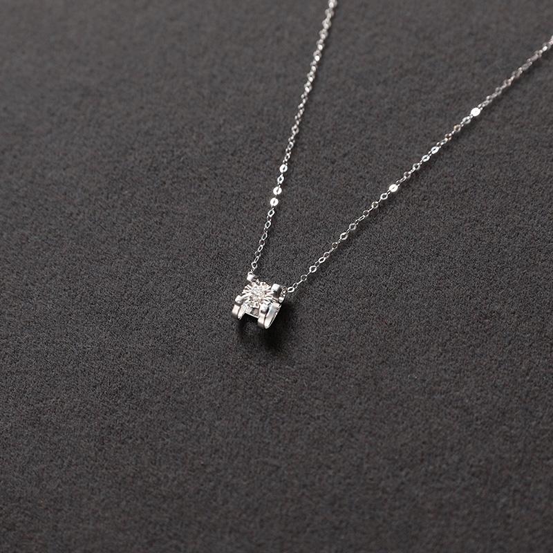 钻石套链   带证书 9.6 祖艾妈定制