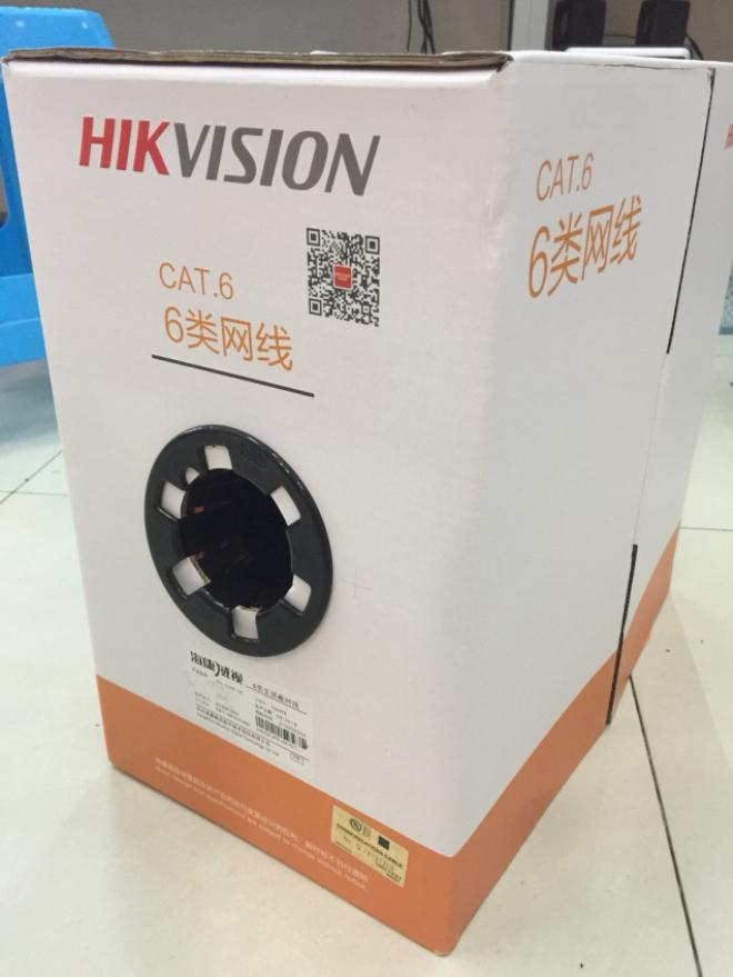监控摄像头无氧铜线 UEpoe 1LN6 DS 海康威视六类非屏蔽超五类网线