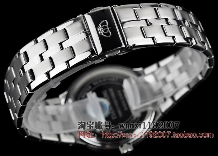 石英表钢带超薄防水女表男士女士 情侣手表 正品天王表 D GS3626S