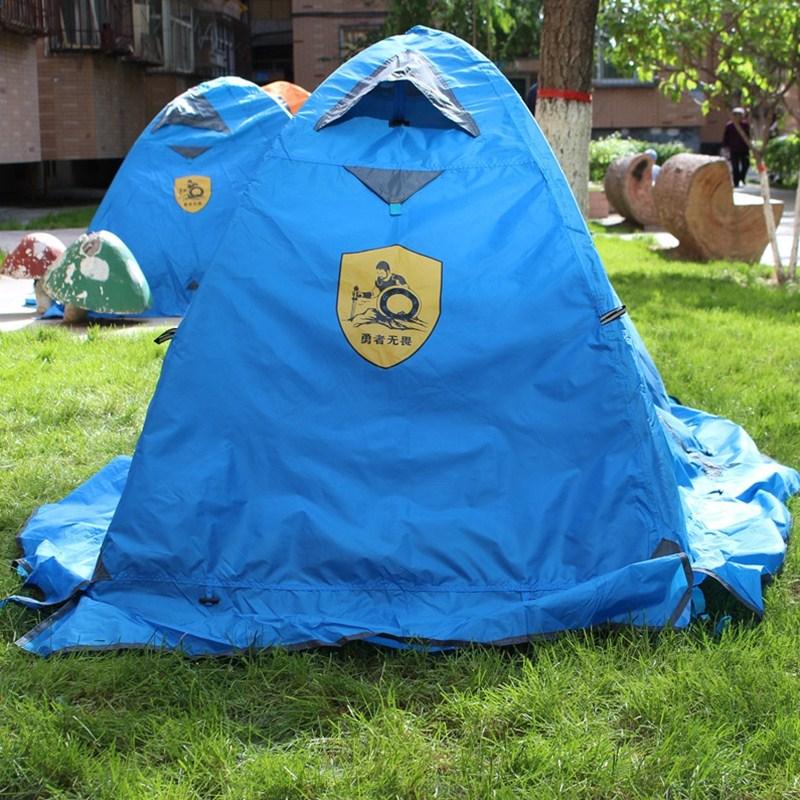 人二室一厅家庭旅游加厚防水装备 4 3 人野外露营 2 帐篷户外单人