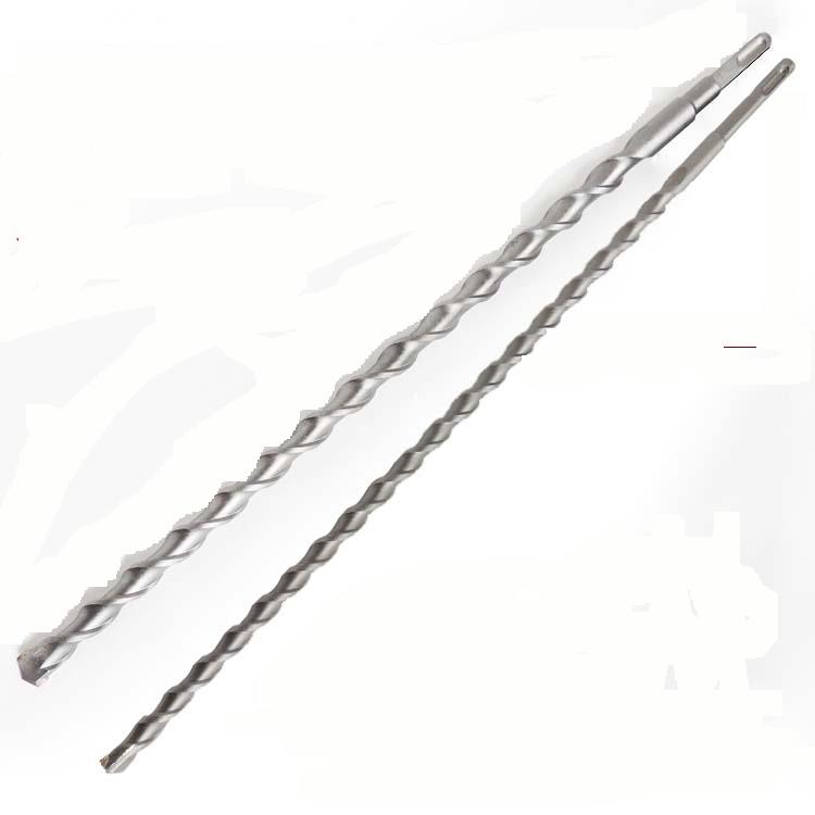 电锤钻头方柄圆柄加长穿墙水泥冲击钻头混凝土开孔建工钻头600MM