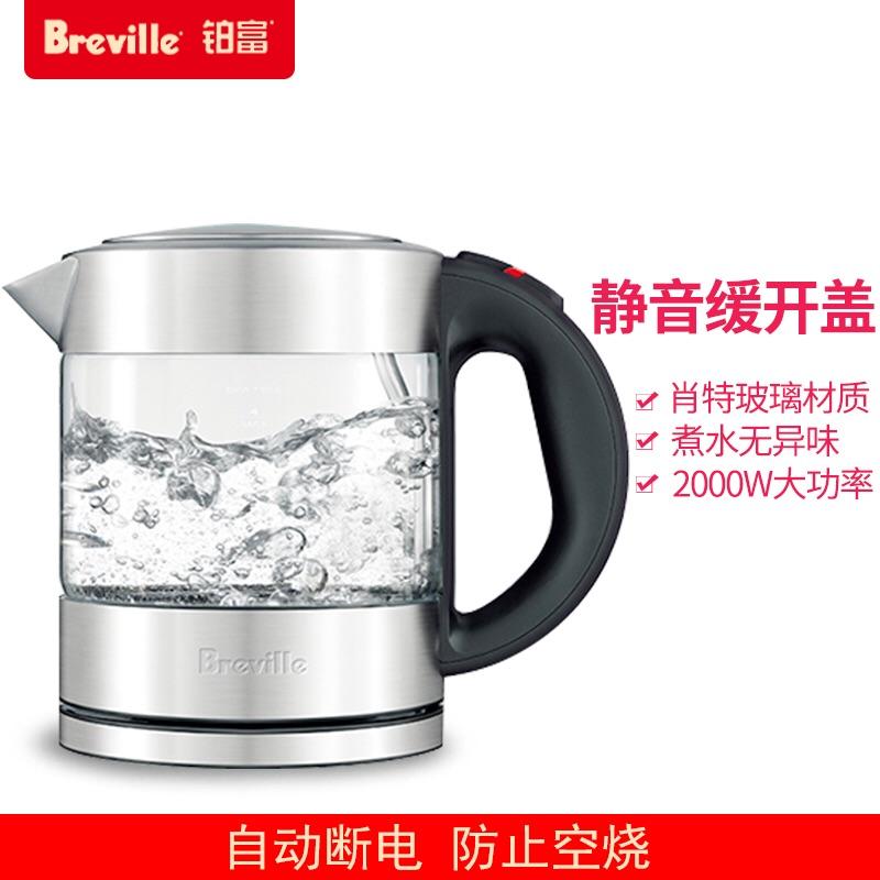 Breville鉑富BKE395快壺煮水玻璃電熱水壺燒水壺燒水家用電熱小型