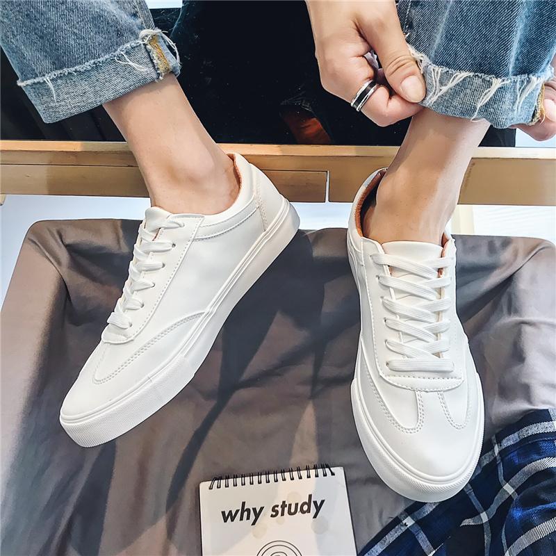 男鞋2021年夏百搭小白鞋男士休闲白色板鞋ins情侣帆布鞋子男潮鞋 No.1