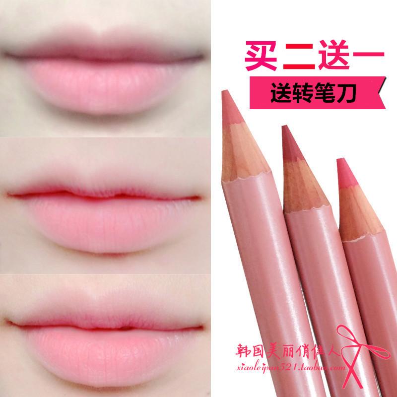 正品脣線筆持久防水上色 絕美粉色橘色大紅色口紅筆脣筆亞光絲絨