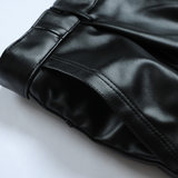 Leather pants male middle-aged men's winter plus thick velvet warm waterproof motorcycle middle-aged men loose cotton pants