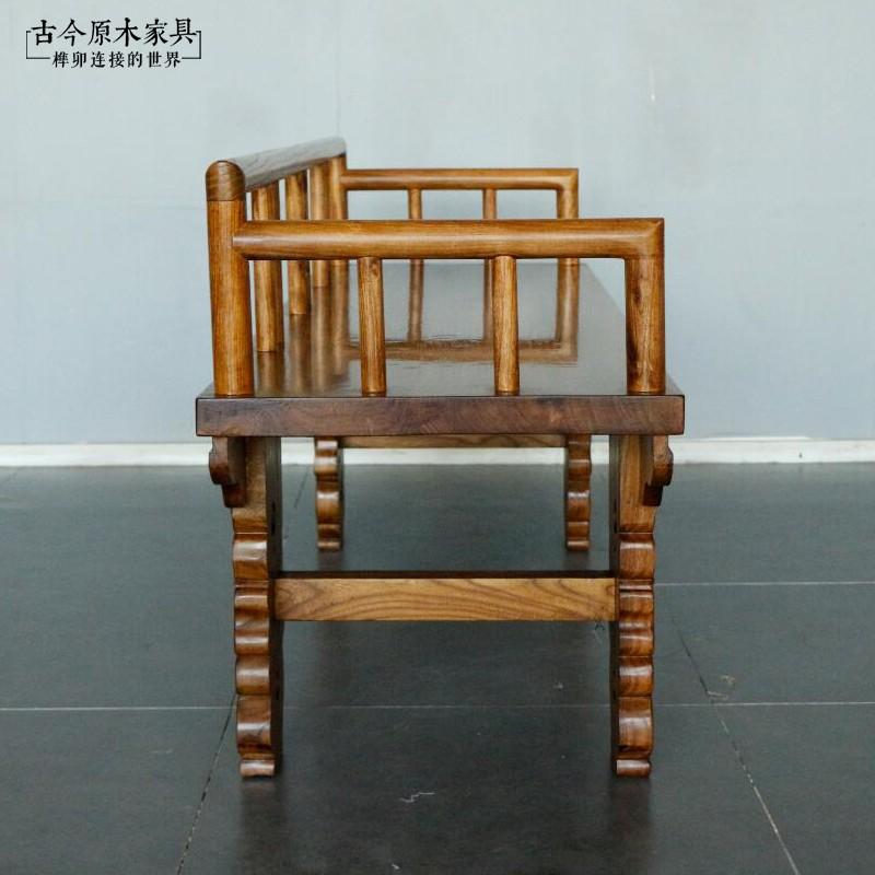东南亚风格家具椅贵妃椅餐凳古今原木CH172泰式实木长凳贵妃榻