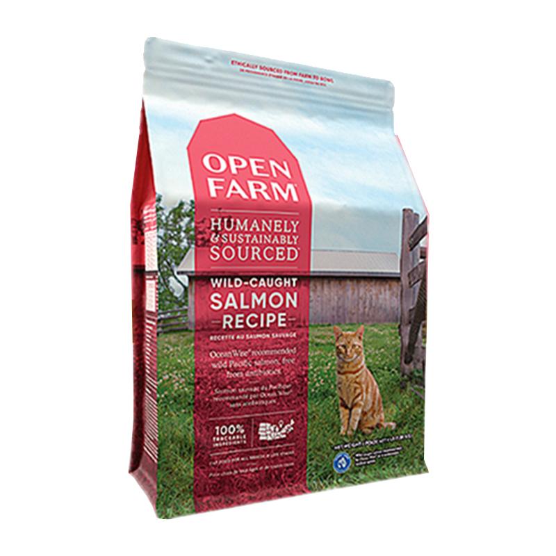 美国自由牧场open farm无谷低敏三文鱼火鸡羊肉美毛健康全猫粮8磅优惠券