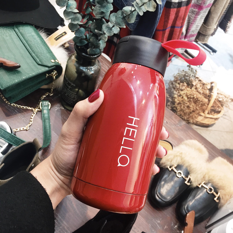 韩版简约时尚保温杯情侣真空不锈钢便携保温瓶创意学生男女水杯子