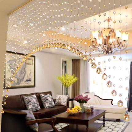 透明水晶珠帘散珠风水门帘客厅隔断手工玻璃珠子diy饰品材料批发