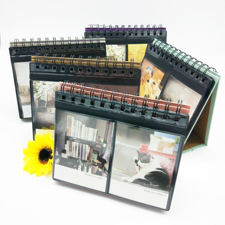 买三送一标准3寸4寸相册台历式摆台迷你宝丽来相册富士拍立得可用