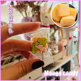 泰国本土零食代购芒果味软糖进口小吃特产水果橡皮糖混合口味散装