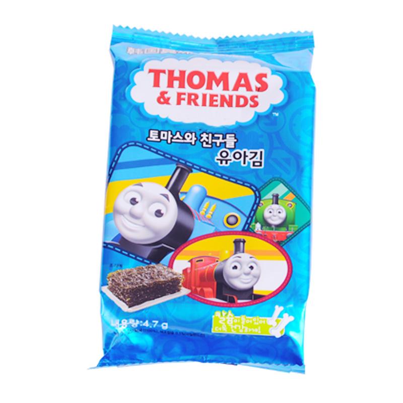 韩国小火车托马斯海苔富含钙铁儿童宝宝婴幼儿零食即食 3袋组合装