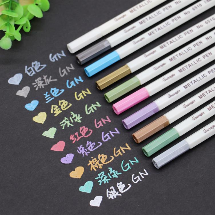 diy相册黑卡纸专用斯塔油漆笔 防水记号手工制作金属笔绘画彩色笔