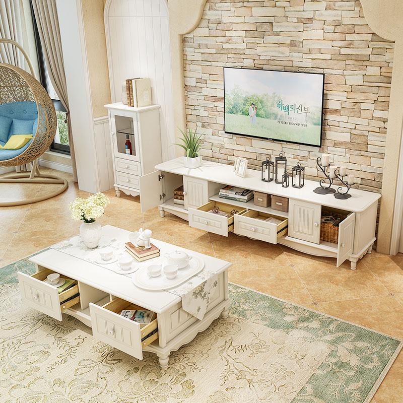 電視櫃茶几組合現代簡約實木電視櫃小戶型客廳電視櫃茶几組合套裝