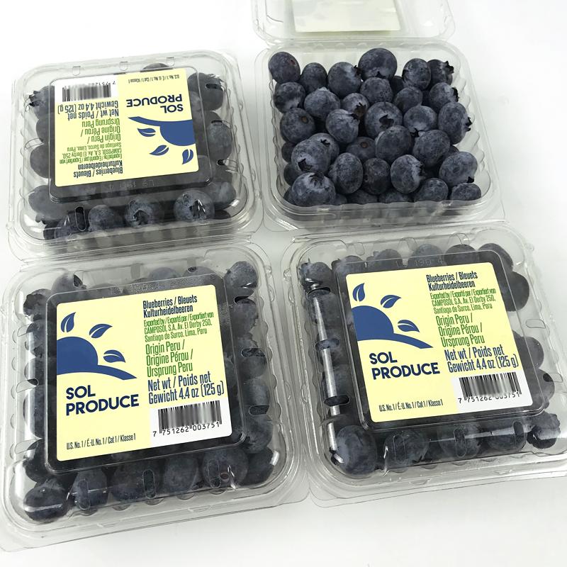 秘鲁进口蓝莓6盒*125g装蓝莓鲜果孕妇水果新鲜蓝莓宝宝辅食包顺丰