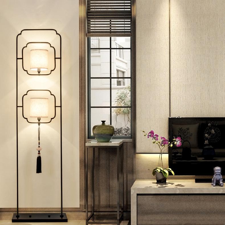 酒店客房 中国风客厅卧室装饰立灯床头台灯 现代新中式艺术落地灯
