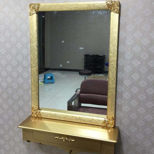 理发店美发镜台单面壁挂贴墙现代简约风发廊专用影楼化妆剪发镜子
