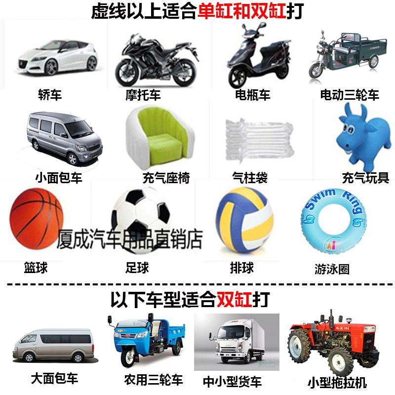 220V电动充气泵小型家用汽车轮胎车载打气筒双缸高压德国两用篮球