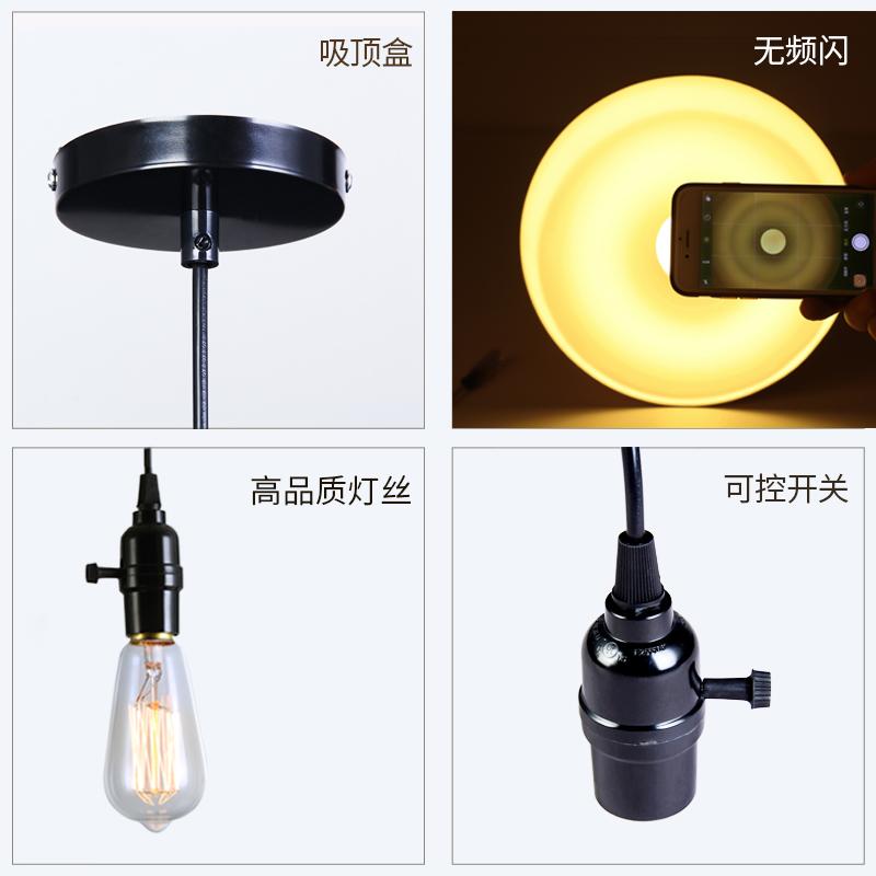 爱迪生仿led灯泡美式艺术复古钨丝光源调光E27螺口220V 110V ST64