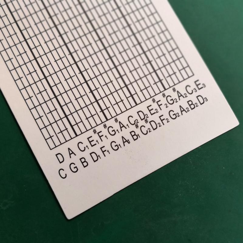 谱曲音乐盒八音盒双面塑料覆膜 DIY 音 30 米整卷空白纸带纸卡手摇 25